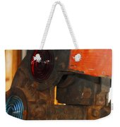 Railroad Gate Signal Weekender Tote Bag