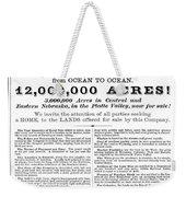 Railroad Land Sale, C1870 Weekender Tote Bag