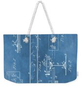 Railroad Tie Patent On Blue Weekender Tote Bag
