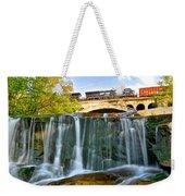Railroad Waterfall Weekender Tote Bag