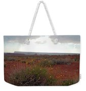 Rain At Monument Valley Weekender Tote Bag
