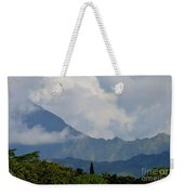 Rain Clouds Over The Makalehas Weekender Tote Bag