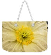 Rain Drenched Yellow Poppy Weekender Tote Bag