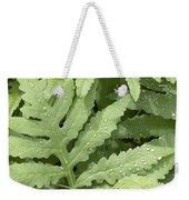 Rain Drops On Ferns Weekender Tote Bag