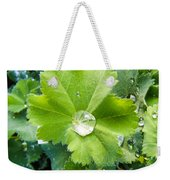 Raindrops On Leaves Weekender Tote Bag
