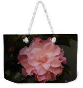 Rain Kissed Camellia Weekender Tote Bag