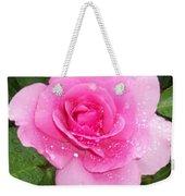 Rain Kissed Rose Weekender Tote Bag