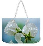 Rain On Sweet Peas Weekender Tote Bag