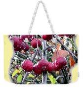 Rain On The Crab Apples Weekender Tote Bag