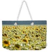 Rain On The Sunflowers Weekender Tote Bag