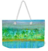 Rain  Original Contemporary Acrylic Painting On Canvas Weekender Tote Bag