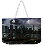 Rain Showers Likely Over Downtown Manhattan Weekender Tote Bag
