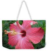 Rain Soaked Hibiscus Weekender Tote Bag