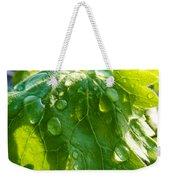 Rain Soaked Leaf Weekender Tote Bag