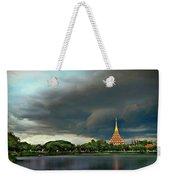 Rain Storm Lake View Weekender Tote Bag