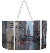Rain Water Street W City Hall Weekender Tote Bag
