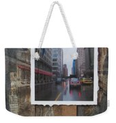 Rain Wisconcin Ave Tall View Weekender Tote Bag
