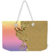 Rainbow And Gold Weekender Tote Bag
