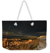 Rainbow And Thunderstorm Bryce Canyon National Park Ut Weekender Tote Bag