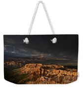 Rainbow And Thunderstorm Over The Paunsaugunt Plateau  Weekender Tote Bag