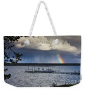 Rainbow At Burt Lake Weekender Tote Bag