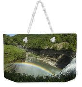 Middle Falls With Rainbow Weekender Tote Bag