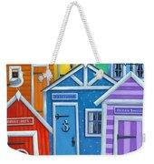 Rainbow Beach Huts Weekender Tote Bag