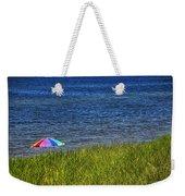 Rainbow Beach Umbrella Weekender Tote Bag