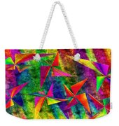 Rainbow Bliss - Pin Wheels - Painterly - Abstract - H Weekender Tote Bag