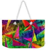 Rainbow Bliss - Pin Wheels - Painterly - Abstract - V Weekender Tote Bag