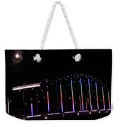 Rainbow Bridge And Super Moon Weekender Tote Bag