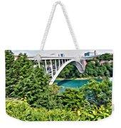 Rainbow Bridge View Weekender Tote Bag