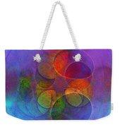Rainbow Bubbles Weekender Tote Bag by Klara Acel