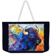 Rainbow Buffalo Weekender Tote Bag