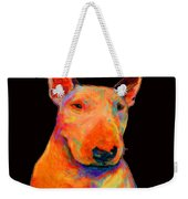 Rainbow Bull Terrier Weekender Tote Bag