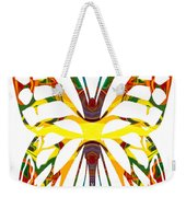 Rainbow Butterfly Abstract Nature Artwork Weekender Tote Bag