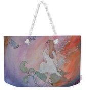 Rainbow Butterfly Fairy Weekender Tote Bag