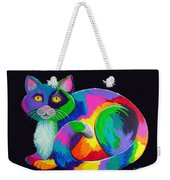 Rainbow Calico Weekender Tote Bag