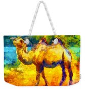 Rainbow Camel Weekender Tote Bag