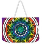 Rainbow Celtic Butterfly Mandala Weekender Tote Bag
