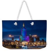 Palace Of Science And Culture In Rainbow Colors  Weekender Tote Bag