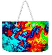 Rainbow Dye Weekender Tote Bag