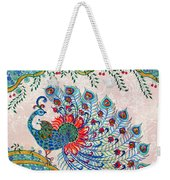Rainbow Feathers Weekender Tote Bag