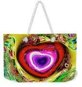 Rainbow Heart Weekender Tote Bag