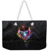 Rainbow Heart Weekender Tote Bag by Linda Sannuti