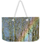 Rainbow Hiding Behind The Trees Weekender Tote Bag