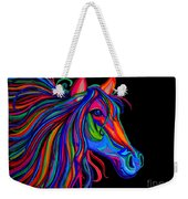 Rainbow Horse Head Weekender Tote Bag