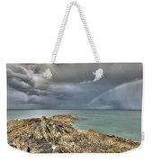 Rainbow In Storm Clouds Pointe De Saint Cast  Weekender Tote Bag