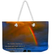 Rainbow In The Cloud Weekender Tote Bag