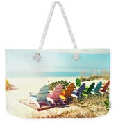 Rainbow Of Adirondack Chairs IIII Weekender Tote Bag